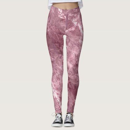 Rose quarts with Pink glitter accents Leggings - glitter glamour brilliance sparkle design idea diy elegant
