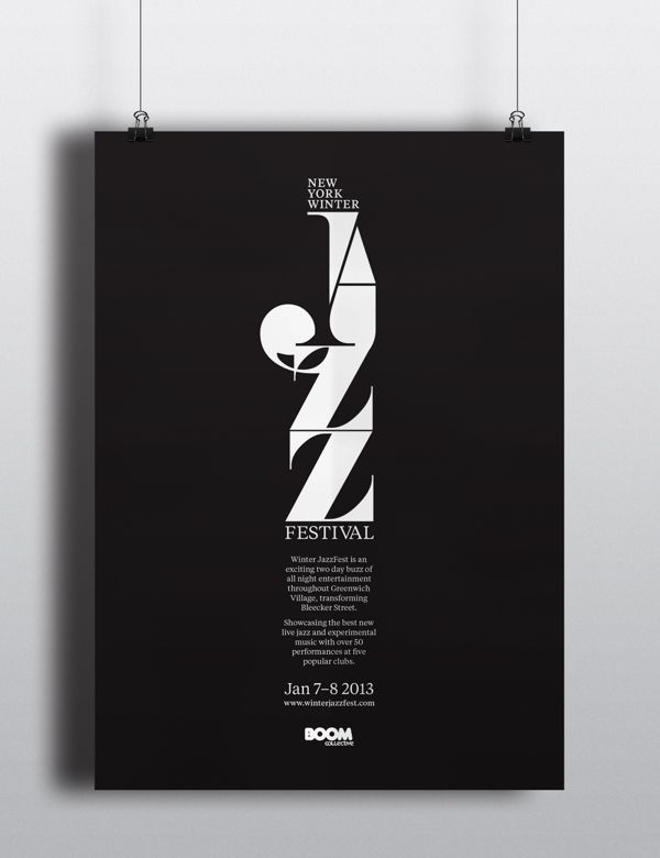 New Your Winter Jazz Festival - Posters & Promotion pro Luke Syrylo em Behance