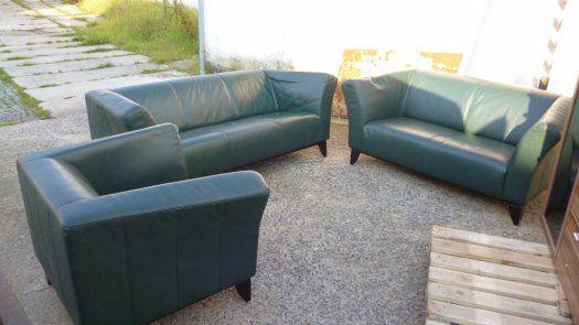 Designová sedací souprava z pravé kůže 3-2-1 - Jablonec nad Nisou, prodám