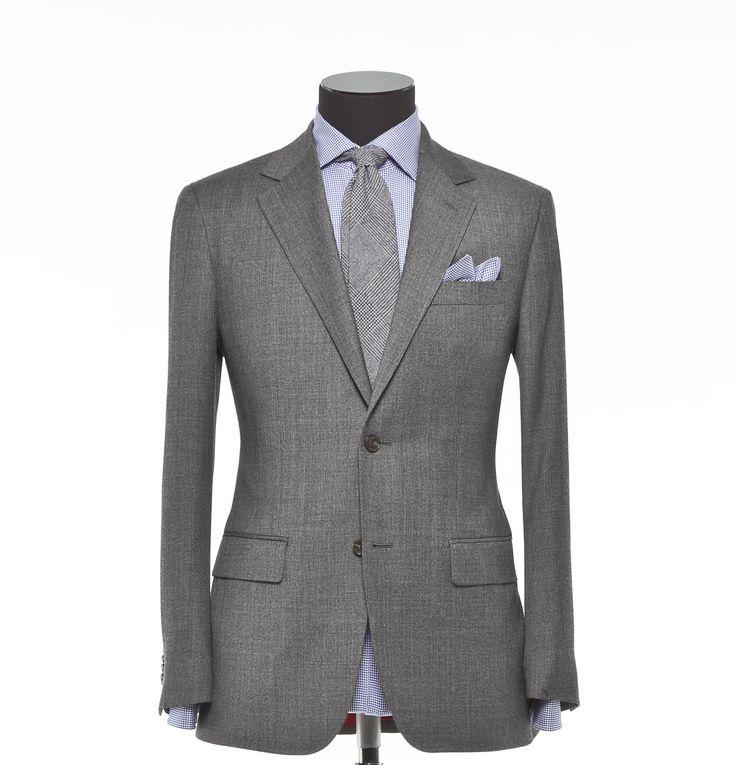 Tailored 2-Piece Suit - Fabric 4061 Plain Grey