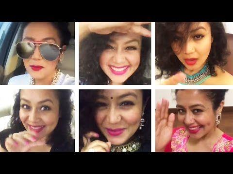 Neha Kakkar    Best Bollywood Selfie Mashup    Sunny Sunny, Aao Raja & More - YouTube
