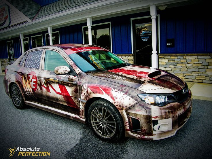 Subaru Impreza Wrx Zombie Car Wrap Design Car Wrap