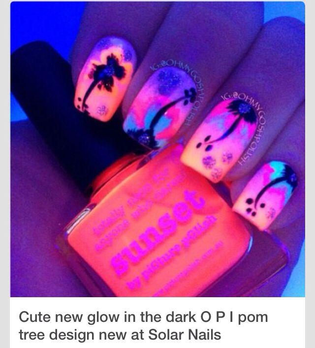 Sunset neon nail design !