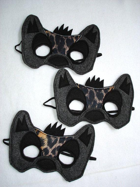 Children's HYENA Felt Mask by magicalattic on Etsy