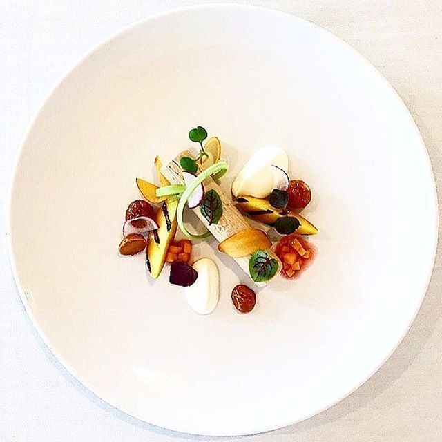 Foie Gras with peaches and cream by @jimmyg78 ・・・ Tag your best plating pictures with #armyofchefs to get featured. ❤️