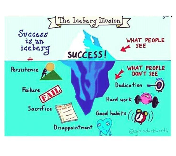 Success definitely is an iceberg  #success