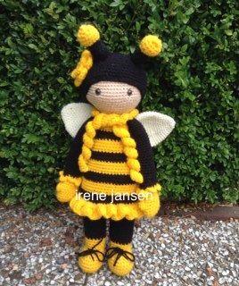 Bijenmeisje Gehaakt Met Een Lalylala Patroondaar Heb Ikmet