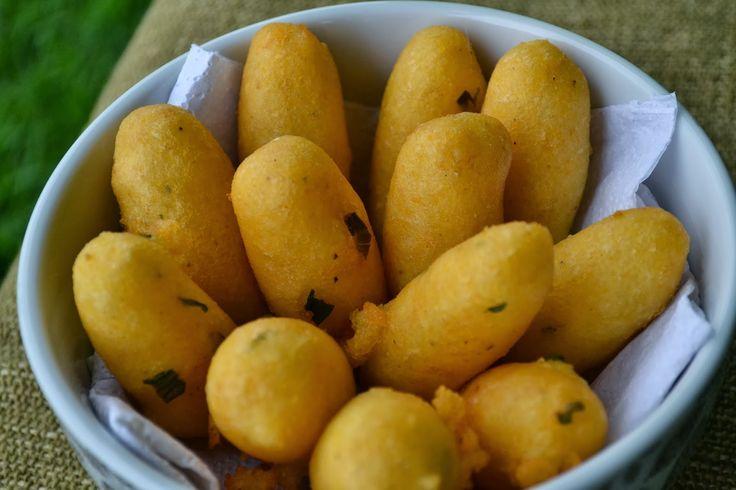 Bolinho de batata com farinha de milho ( sem glúten, sem leite, sem ovo)