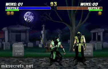Reptile Fatality II - Ultimate Mortal Kombat 3 (GIF)