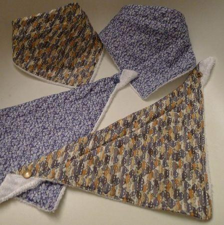Les bavoirs - foulards de cowboy : le tuto !
