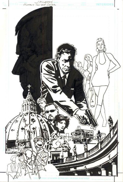 Original and final cover by John Paul Leon from Human Target #2... Original and final cover by John Paul Leon from Human Target #2 published by DC Comics Vertigo May 2010.