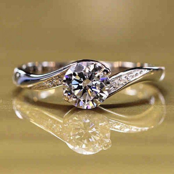 Romantic Love NSCD Diamond Wedding Ring - USD $68.95