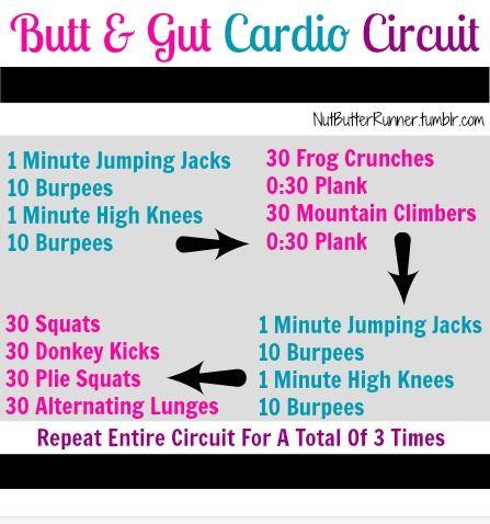 Butt & Gut Cardio Circuit via @Fellow Fellow Larat Butter Runner #FitFluential