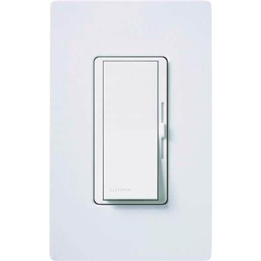 Lutron Wht (White) Cfl/Led Dimmer Dvwcl-153PH-WH Unit: Each
