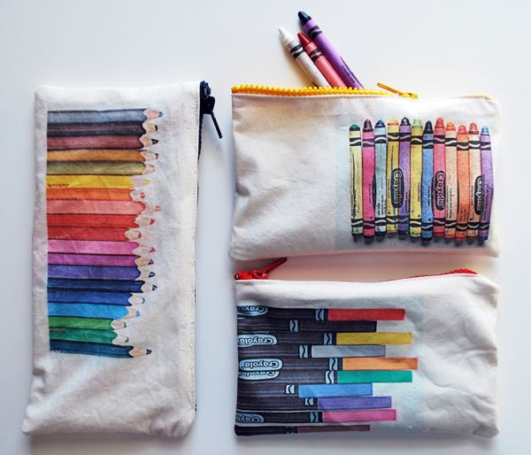 photograph, print on fabric and make into pouches showing contents: Pencil Pouch, Bag, Supply Pouches, Pencil Cases, Art Supplies, Diy, Craft Ideas, Kid