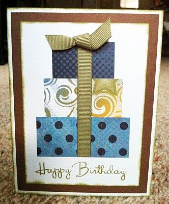 This paper combo makes this handmade Birthday card great for the guys in your life, but changing the colors can make this card perfect for anyone!
