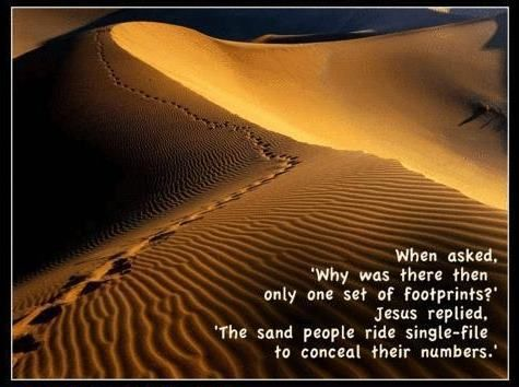Footprints in the sand: Sands People, Geek Humor, Jesus Quotes, Funny Pictures, Hilarious Pictures, Stars War, Footprint, True Stories, Starwars