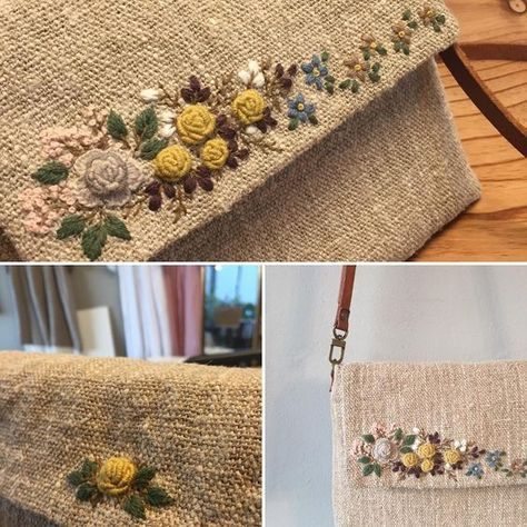 #오랜만에 #프랑스자수 #embroidery #stitch #needlework #자수 #자수타그램 #자수가방 #자수소품 #자수 #햄프린넨가방 #햄프리넨백 #햄프