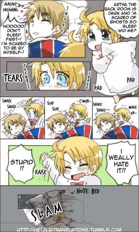 Chibi America and England, Hetalia Fan Art