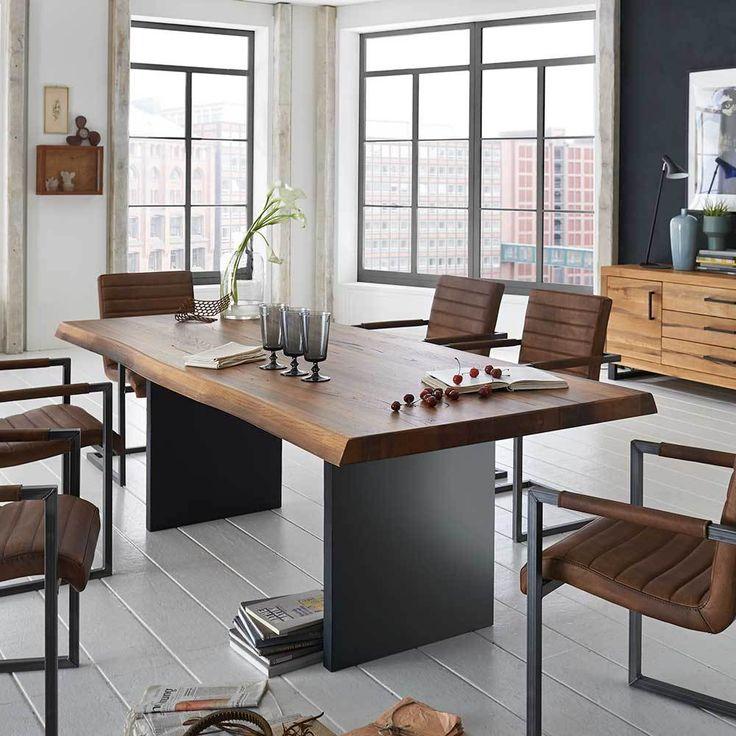 Die besten 25+ Tisch eiche massiv Ideen auf Pinterest Esstisch - moderne massivholz esszimmermobel