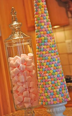Cute!!!! : Candy Trees, Idea, Sweet Trees, Valentines, Conver Heart, Valentine'S S, Candy Heart, Converse Heart, Heart Trees