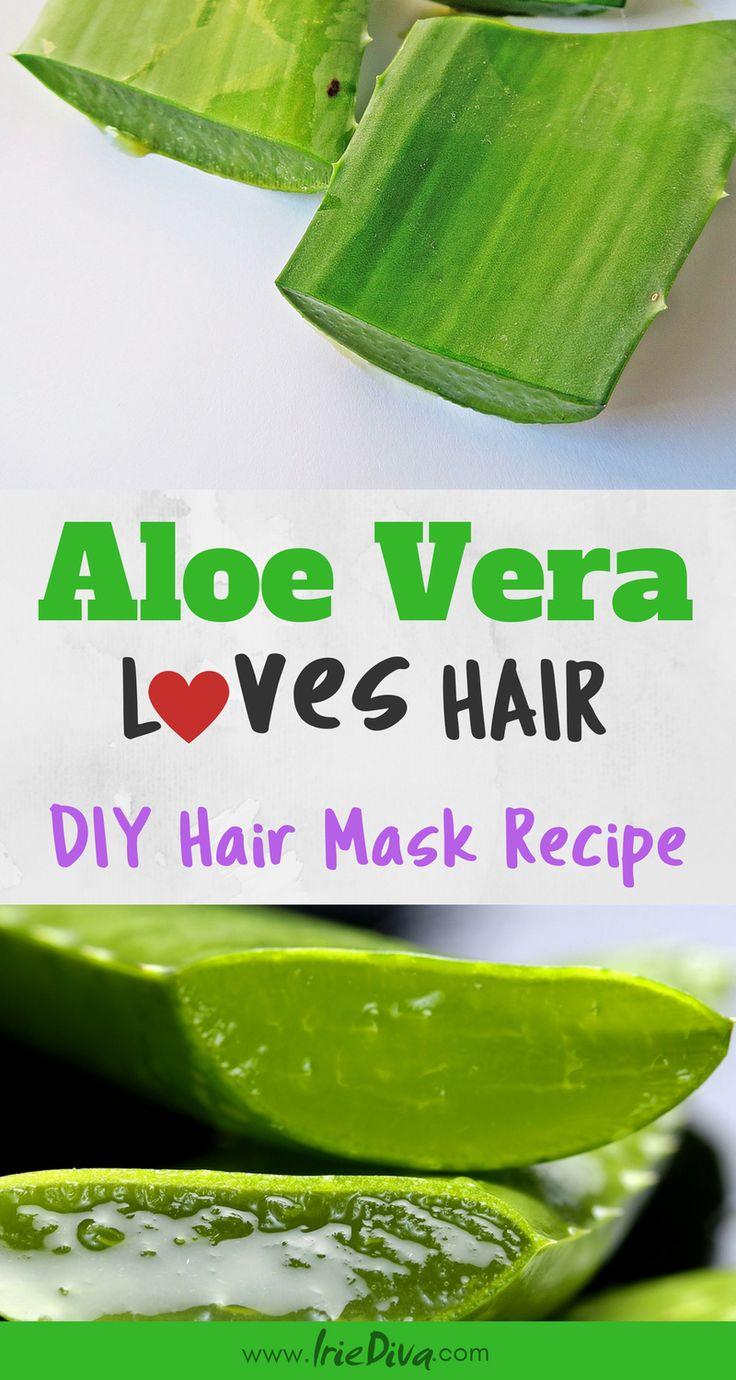 DIY Aloe Vera Deep Conditioner Hair Treatment for soft shiny hair. DIY Hair Mask, DIY Hair Conditioner, DIY Hair Treatment, DIY Beauty, Natural Hair Conditioner