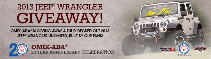 Want to #win 2013 Jeep Wrangler Unlimited Jeep? Enter daily #Giveaway by Omix-ADA by 9/30!