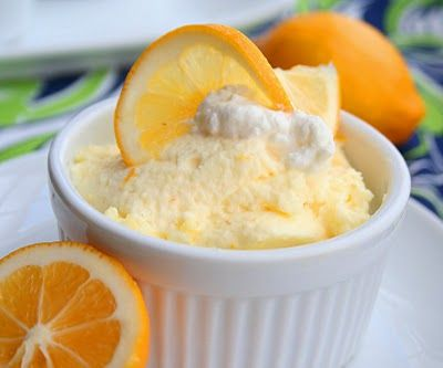 Meyer Lemon Mousse. Original called for 1/2 cup sugar instead of sugar substitutes