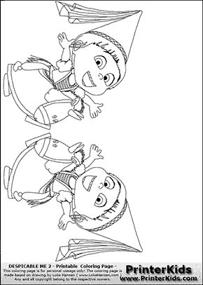 Agnes Despicable Me 2 Using Hat Coloring For Kids ... |Despicable Me Agnes Unicorn Coloring Pages