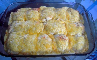 Chicken and cheese crescent rollups (an easy casserole dish).