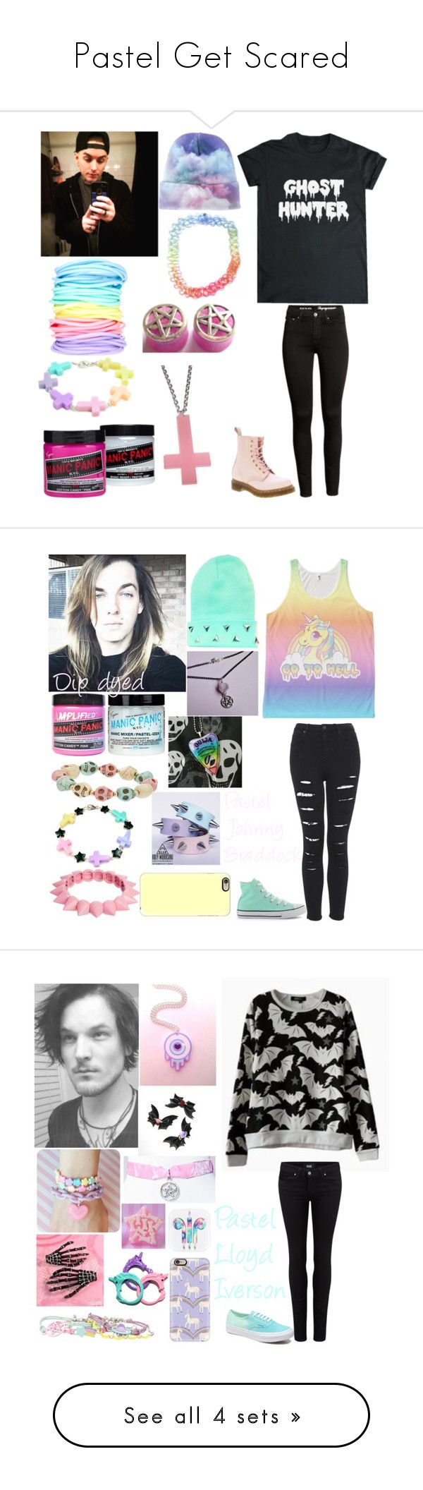 "8413a8942adeab785efce99c3c2c9c30 - ""Pastel Get Scared"" by katlanacross ❤ liked on Polyvore featuring Dr. Martens,..."