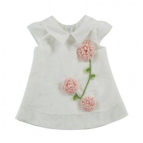 """CEREMONY - Sukienka dziewczęca """"Trzy kwiaty"""" #kwiaty #kwiatki #kwiatuszki #girl #dziewczynka #dziewczęca #sukienka"""