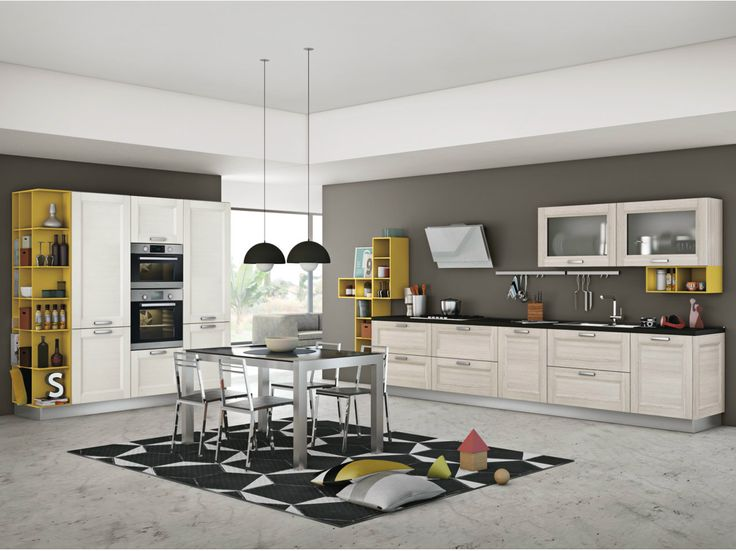 Linear fitted kitchen with handles MYA by CREO Kitchens by Lube