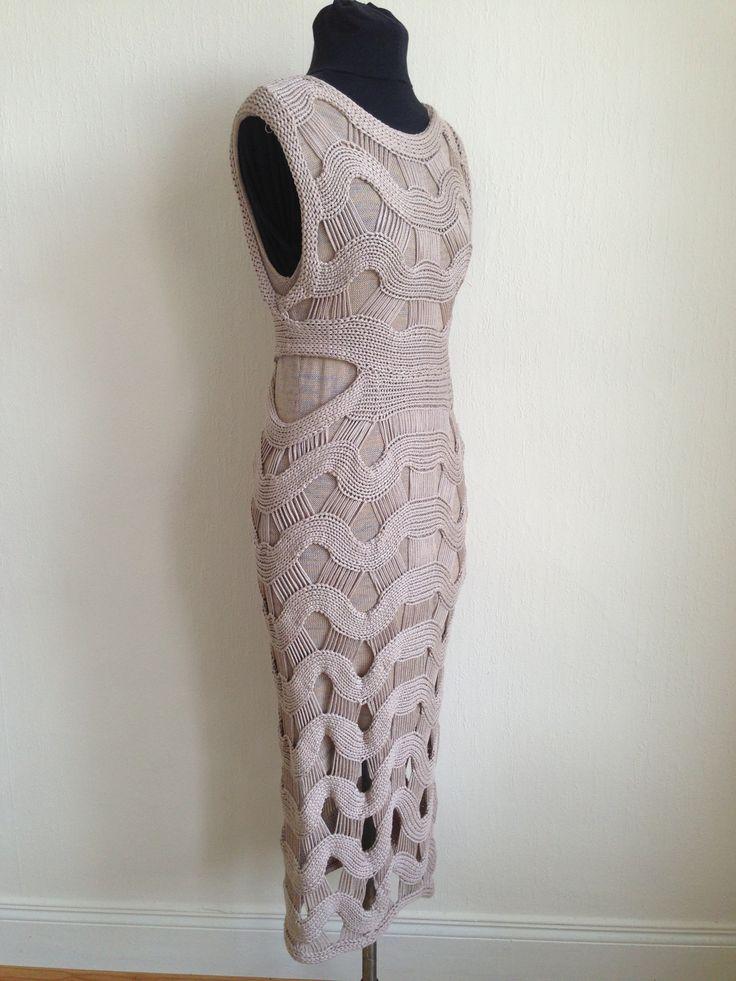 Tape yarn dress by Mary Callan Knitwear