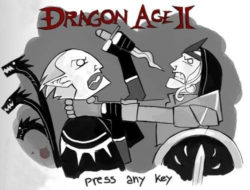 That's how the opening screen in Dragon Age 2 should look like xD.  SpaceTraveller
