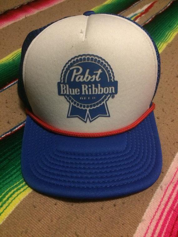0a566cebbdcabf Pabst Blue Ribbon Beer PBR Trucker Hat Vintage Cap | Pabst blue ...