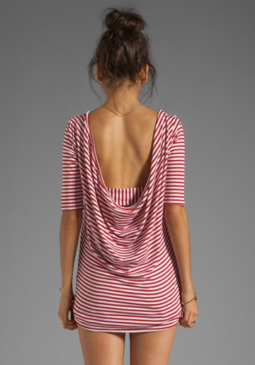 """I would need """"pants"""" along with  (can't pull this off!) but love the open back with upswept hair!"""