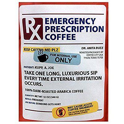 Prescription Coffee Mug & Arabica Coffee Gift Set - Great Pharmacy Gift - 12 Oz Dark Roasted Ground Coffee
