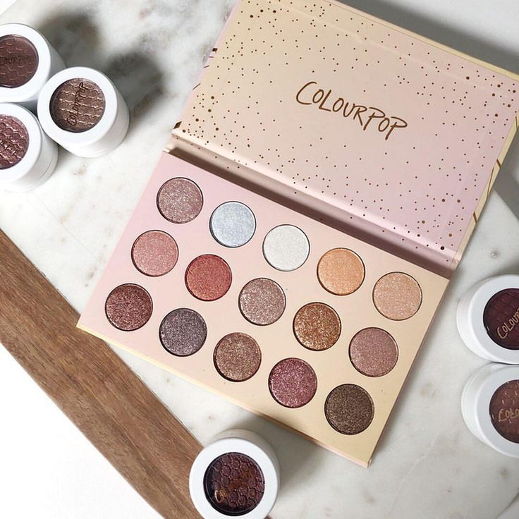 """42.9k Likes, 222 Comments - ColourPop Cosmetics (@colourpopcosmetics) on Instagram: """"Golden State of Mind Palette from our Holiday 2017 Collection ⭐️ All the glitter you need this…"""""""