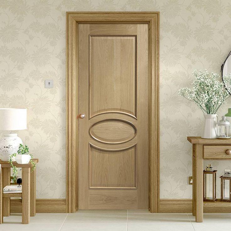 Calabria Oak Panel Door with Raised Mouldings. #elegantdoor #elegantoakdoor #internaloakdoor