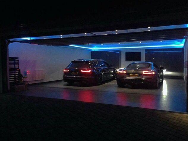 Audi garage garage pinterest garajes garaje de lujo for Garajes de ensueno