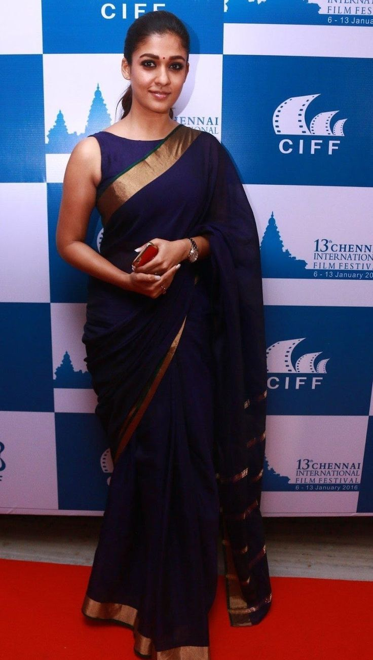 Nayantara Latest Stills In Very Hot Blue Saree