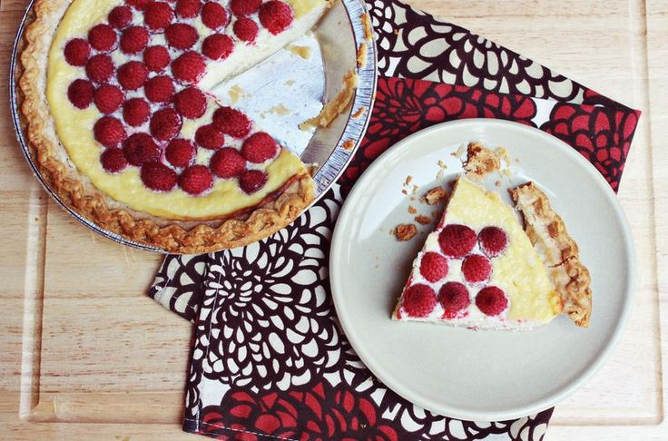 Low Sugar Ricotta raspberry pie