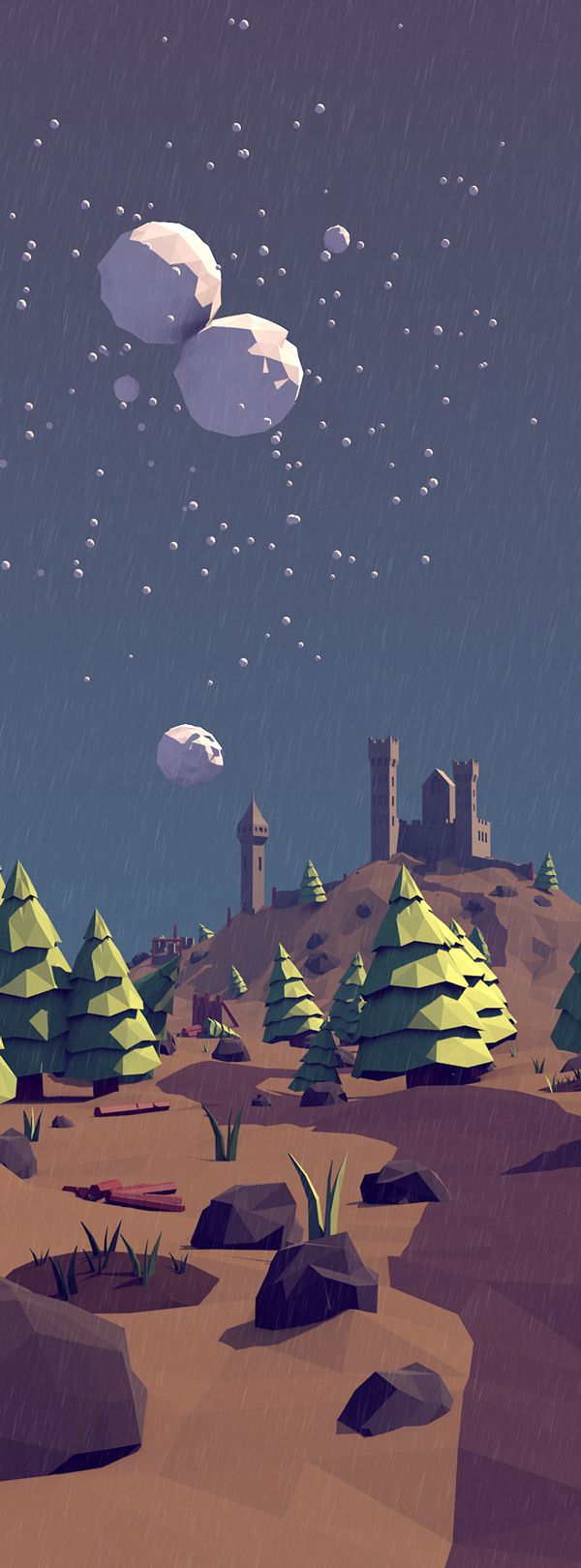 Low Poly Forest Landscape on Behance