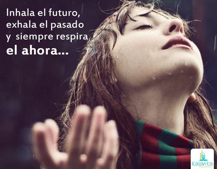 Inhala el futuro, exhala el pasado y siempre respira el ahora...