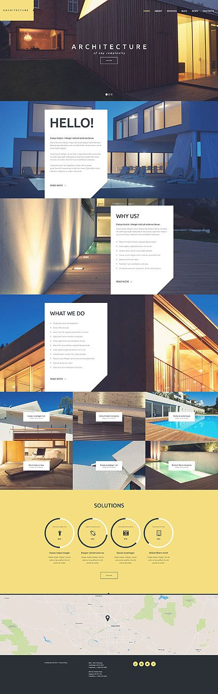 Template 53109 - Architecture Company  Responsive WordPress  Theme