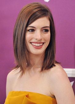 Layered long bobHaircuts, Mid Length, Shoulder Length Bobs, Hair Cut, Cute Hair, Hair Style, Long Bobs, Hair Color, Anne Hathaway