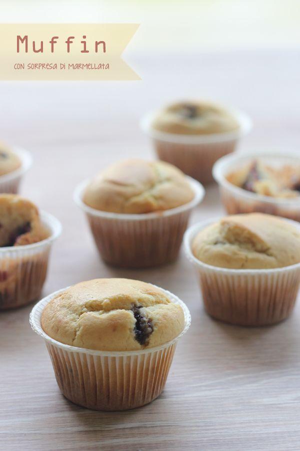 Dolce Salsarosa: Muffin con sorpresa di marmellata