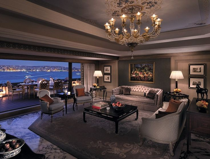 The Shangri-La Suite at the Shangri La Bosphorus hotel in Istanbul has views over the Bosp...