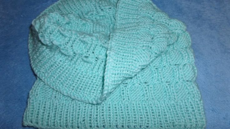 Детский Шарф снуд. Вязаный шарф хомут, труба. Вязание спицами.   Knitting(Hobby)